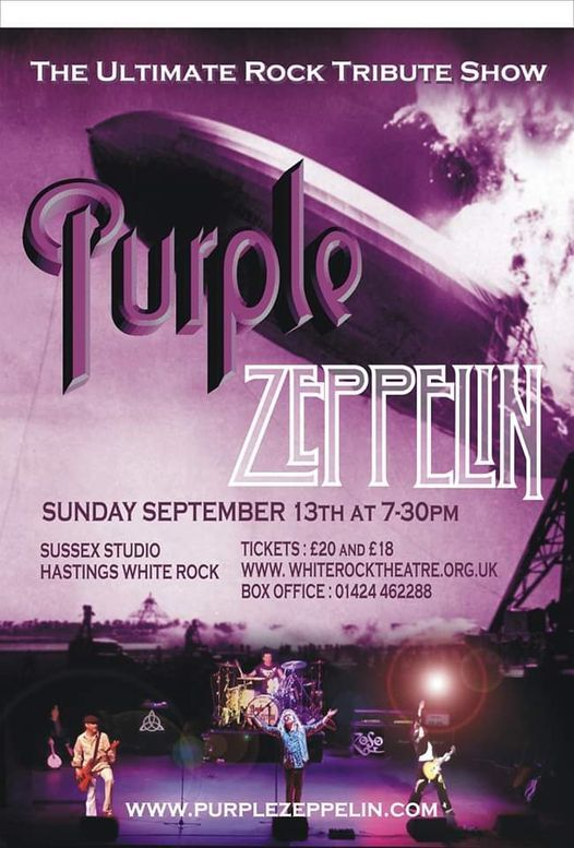 Purple Zeppelin | Sussex Studio, Hastings White Rock, 28 March | Event in Hastings | AllEvents.in