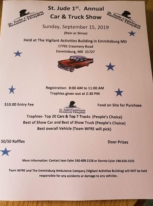 1st Annual Car and Truck Show to benefit St  Jude at