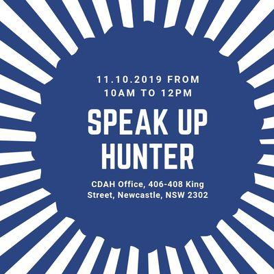 Speak Up Hunter October