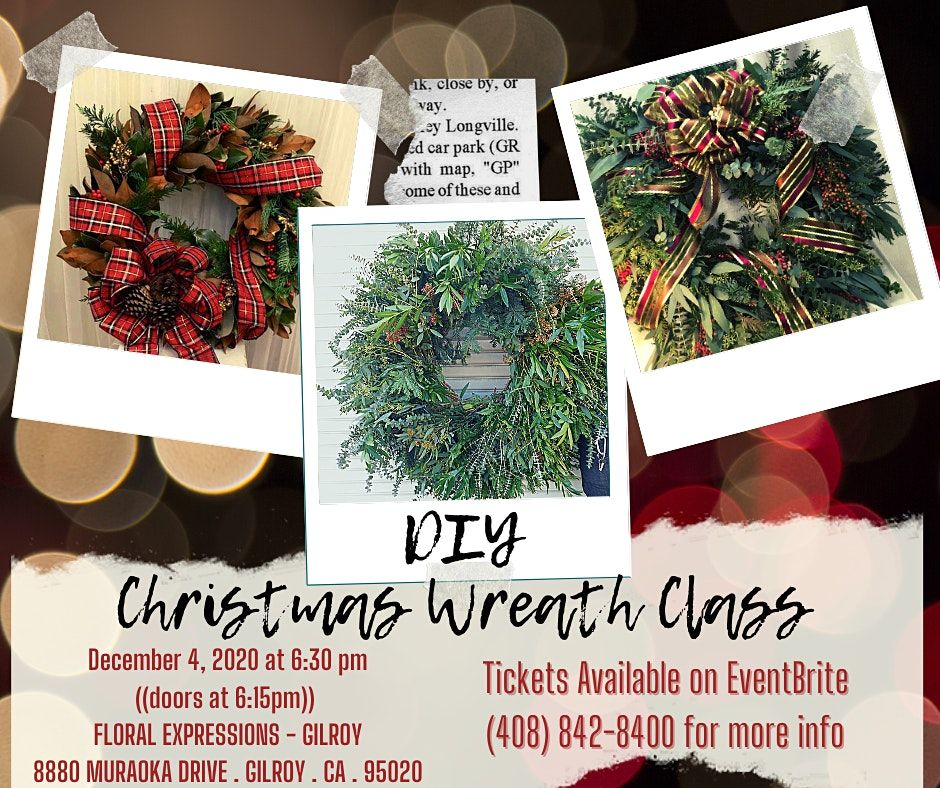 Create your own Christmas Wreath, EXPRESSIONS FLORAL, Gilroy, 4