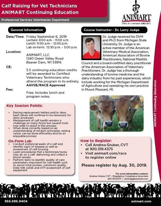 Animart Continuing Education - Calf Raising for Vet