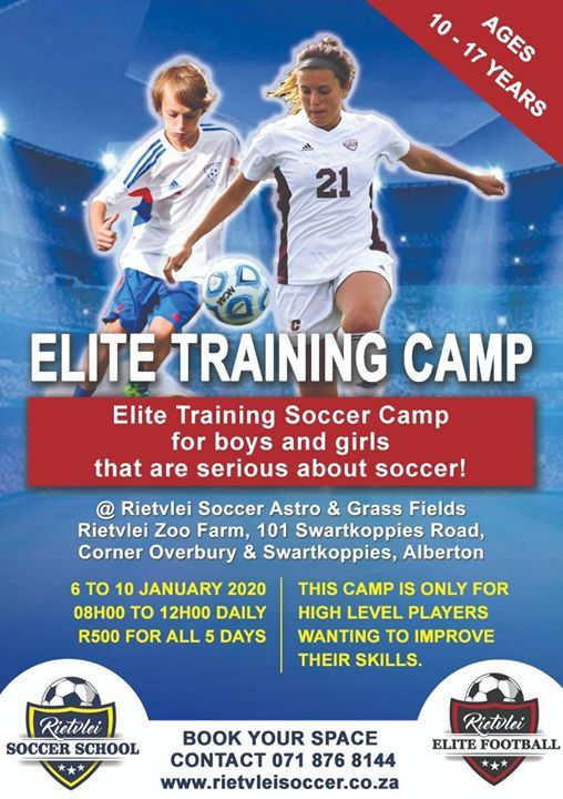 Rietvlei Elite Soccer Training Camp 6 To 10 Jan 2020 At