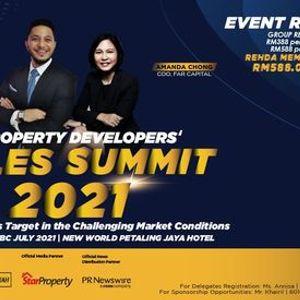 Property Developers Sales Summit 2021  TBC JULY 2021  New World Hotel Petaling Jaya