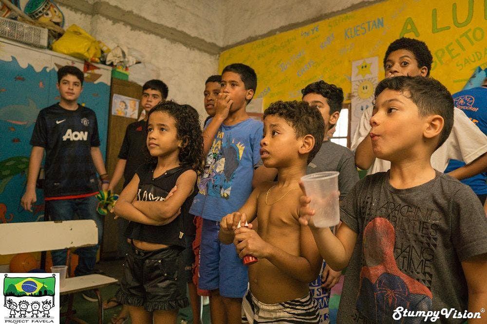School Project in Favela Rio De Janeiro Brazil