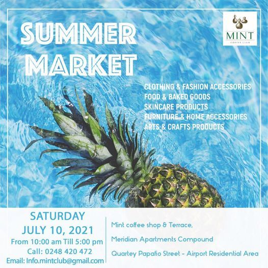 SUMMER MARKET, 10 July | Event in Accra | AllEvents.in