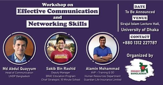 Workshop on Effective Communication and Networking Skills, 21 November   Event in Mymensingh   AllEvents.in