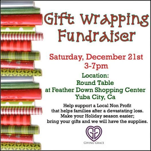 Gift Wrapping Fundraiser Giving Grace Round Table Pizza Yuba City December 21 2019 Allevents In
