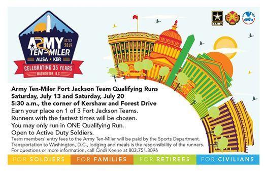Army Ten-Miler Qualifying Runs