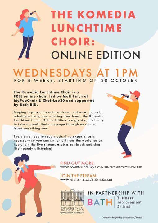 Komedia Lunchtime Choir: Online Edition, 2 December | Online Event | AllEvents.in