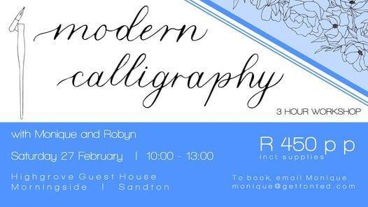 Beginner Modern Calligraphy Workshop, 27 February | Event in Sandton | AllEvents.in