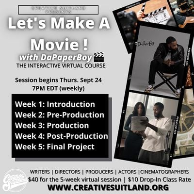 Lets Make A Movie Virtual Filmmaking 5-Week Course