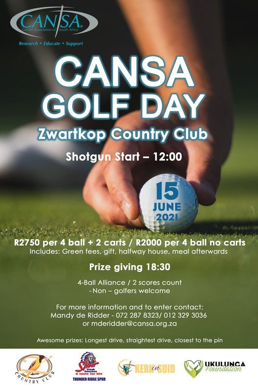 CANSA Golf Day, 15 June | Event in Centurion | AllEvents.in