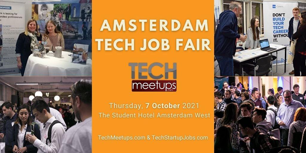 Amsterdam Tech Job Fair Autumn 2020 by Techmeetups