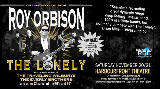 The Lonely - Celebrating The Music of Roy Orbison, 20 November | Event in Summerside | AllEvents.in