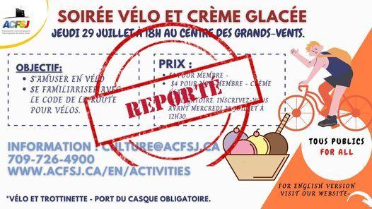SOIRÉE VÉLO ET CRÈME GLACÉE, 29 July   Event in St. John's   AllEvents.in
