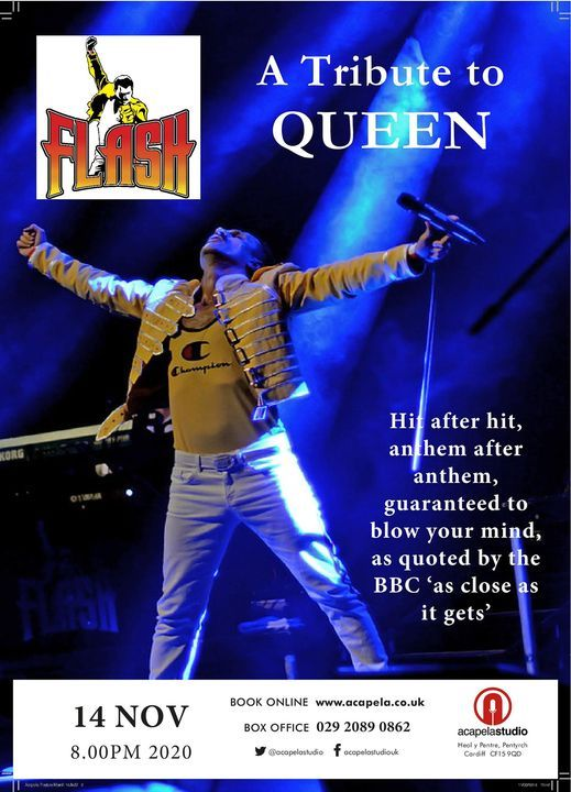 Flash Tribute to Queen, 30 April | Event in Cardiff | AllEvents.in