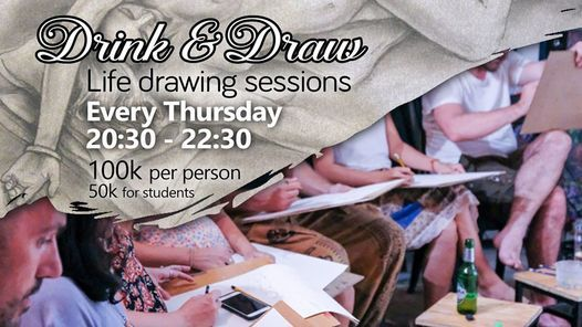 Drink & Draw - life drawing sessions, 21 January | Event in Danang | AllEvents.in