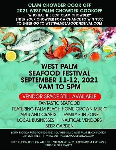 Clam Chowder Cook Off - West Palm Seafood Festival, 11 September | Event in West Palm Beach | AllEvents.in