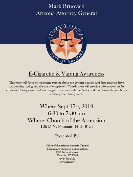 E-Cigarette and Vaping Awareness at Church of The Ascension