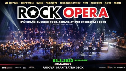 ROCK OPERA - Padova, Gran Teatro Geox - 28.05.21, 28 May | Event in Padua | AllEvents.in