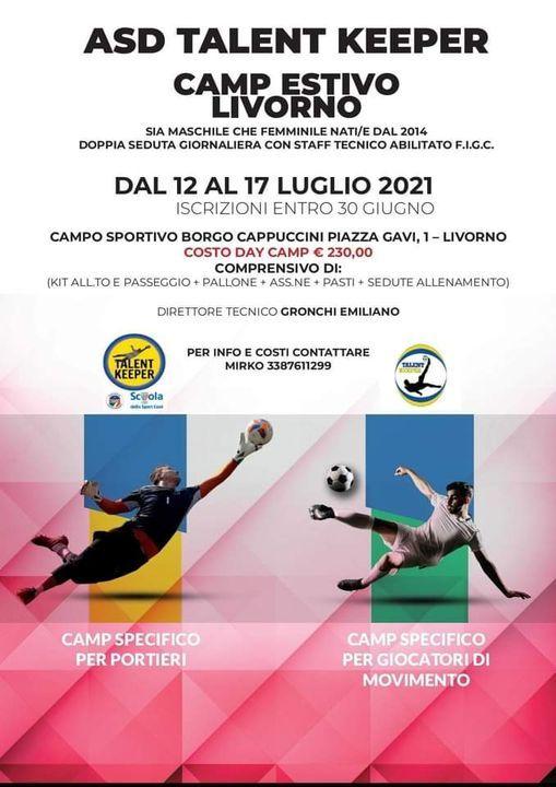 Camp Estivo Livorno di calcio sia maschile che femminile, 12 July | Event in Livorno | AllEvents.in