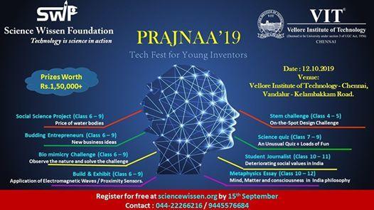 Prajnaa19 at VIT Chennai Campus, Chennai
