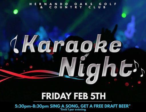 Karaoke Night, 5 February   Event in Brooksville   AllEvents.in