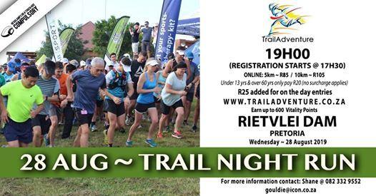 Trailadventure Rietvlei Night Run 10 & 5km