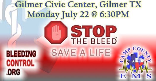 Stop The Bleed - Public Training Event at Gilmer Civic