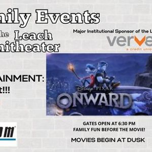FREE Friday Movie Nights at the Leach Amphitheater - Onward