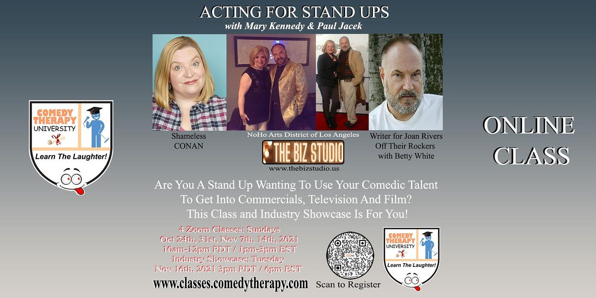 Acting For Stand Ups with Mary Kennedy and Paul Jacek, 24 October   Online Event   AllEvents.in