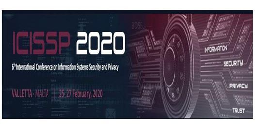 ICISSP 2020 6th Int. Conf. on Information Systems Security and Privacy (INS)