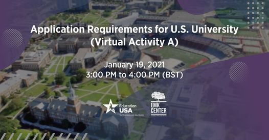 Application Requirements for U.S. University, 19 January   Event in Dhaka   AllEvents.in
