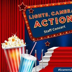 Lights camera action - primary school staff concert