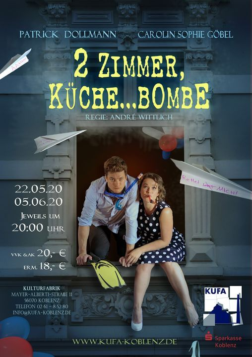 2 Zimmer, Küche ... Bombe, 30 October | Event in Koblenz | AllEvents.in