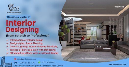 Become a Master in Interior Designing (from Scratch to Professional), 13 November | Event in Lahore | AllEvents.in