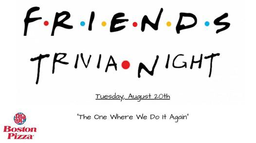 Friends Trivia Night - The One Where We Do It Again