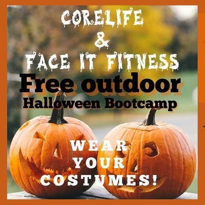 Outdoor Halloween Boot Camp wF.A.C.E. It Fitness and CoreLife