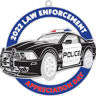 Law Enforcement Appreciation Day 1M 5K 10K 13.1 26.2-Save 2