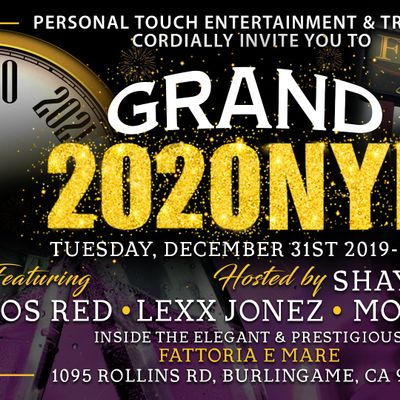 Grand 2020 New Years Eve  The New Fattoria e Mare Burlingame