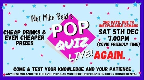 Pop Quiz Live Again - Hopefully, again., 5 December | Event in Bath | AllEvents.in