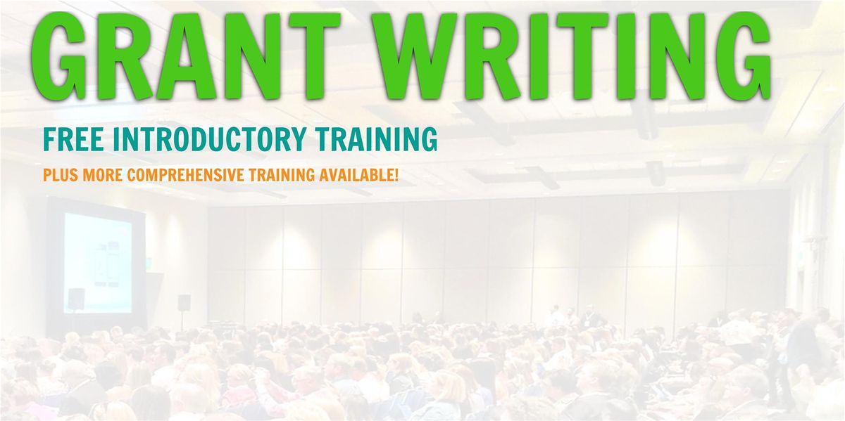 Grant Writing Introductory Training... Chula Vista California