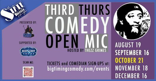 Comedy Open Mic Night - Presented by Big Timing Comedy, 21 October   Event in Havre De Grace   AllEvents.in