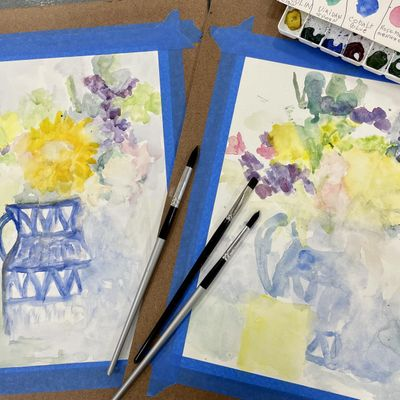Beginning Watercolor Painting with Lynette -Sat. Aug. 14-Sept. 25
