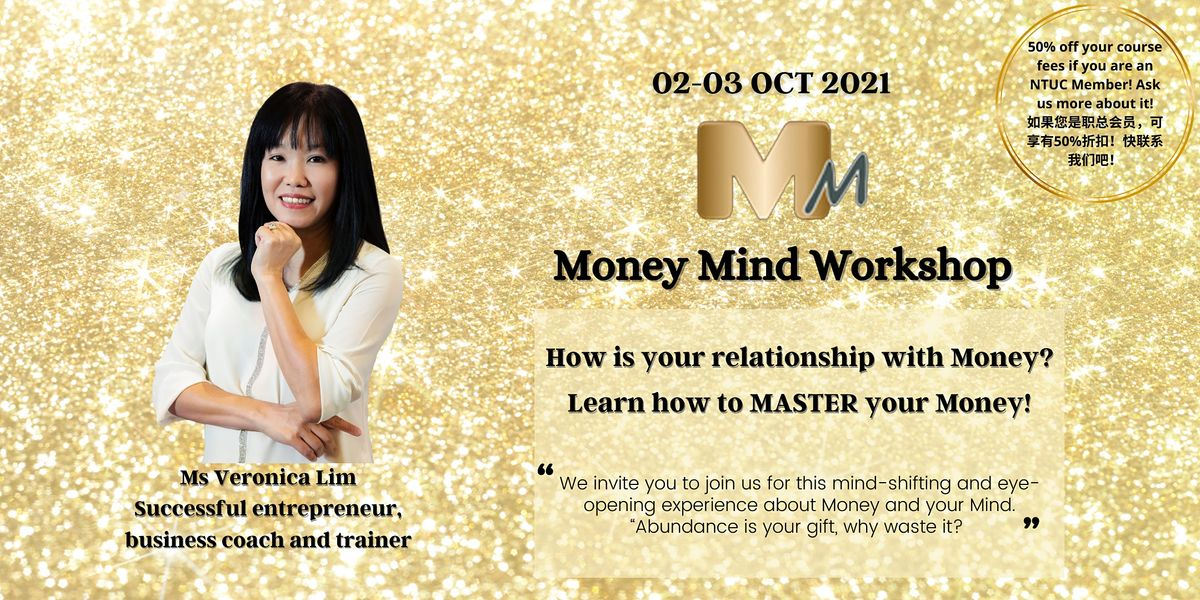 Money Mind Workshop 金钱心灵工作坊 By Veron Lim, 2 October   Event in Singapore   AllEvents.in