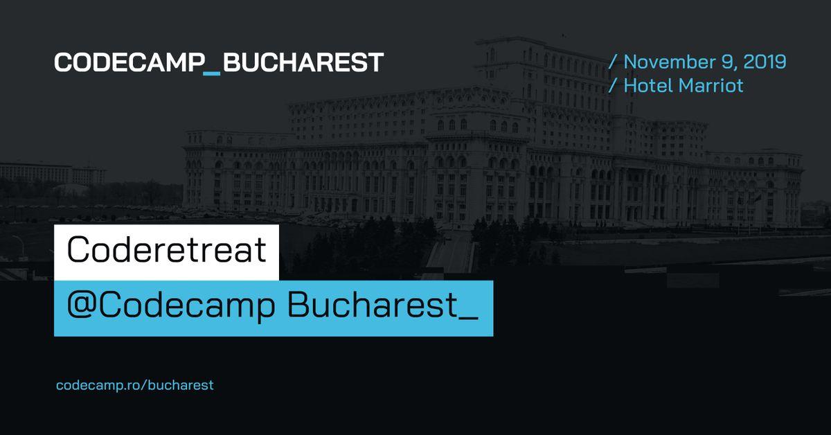 Coderetreat Codecamp Bucharest 9 November 2019