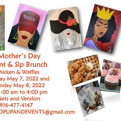 Mothers Day Brunch Chicken & Waffles Paint Mimosa
