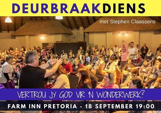 Deurbraakdiens Farm Inn Pretoria