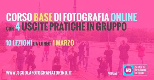 Corso Base di Fotografia Online a Torino con Uscite in Esterno, 1 March | Event in Turin | AllEvents.in