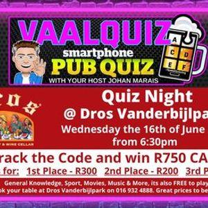 VaalQuiz Quiz Night  Dros Vanderbijlpark